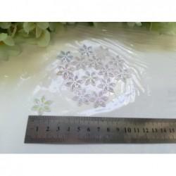 кабшон цветок № 1309  белый...